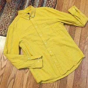 H&M Men's Yellow Button Down Shirt